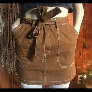 Brown Utility Skirt